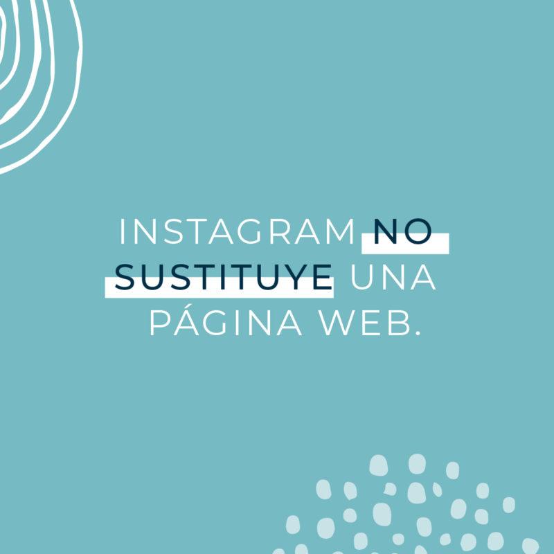 Instagram no sustituye una página web